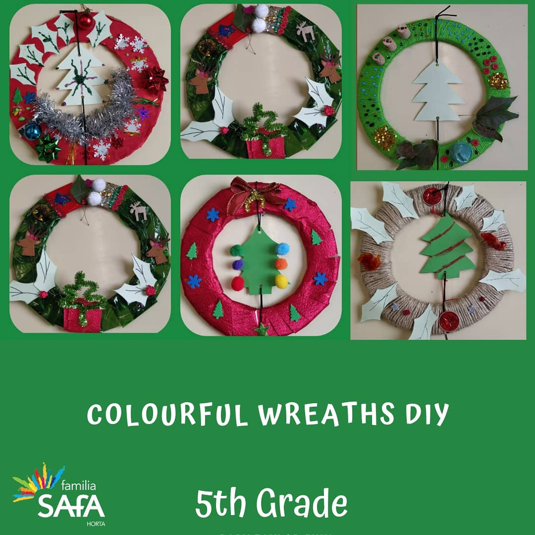 Colourful wreaths-5th grade