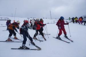 Primer dia d'esquiada a Baqueira